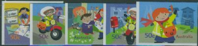 Aus SG2654-8 Postie Kate self-adhesives set of 5 from booklet (exSB203/4)